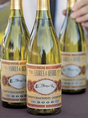 Custom wine labels are savvy (and a sneaky way to serve less expensive wines).