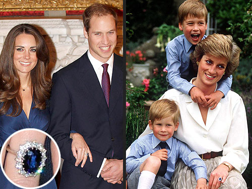 Princess Diana's famous sapphire and diamond engagement ring was the same one Will used to propose to Kate.