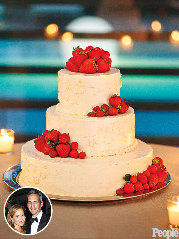 Katie Couric and John Molner's  skipped the traditional white concoction for their favorite Lemon-Strawberry Cake
