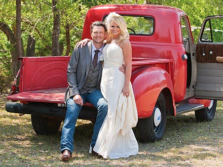 Miranda Lambert wore her mother's wedding dress when she said 'I Do' to Blake Shelton.