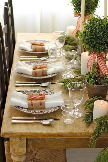Use a painter's dropcloth as a tablecloth - so inexpensive you won't feel guilty throwing it out at the end of dinner.