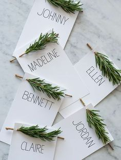 Fresh rosemary adds just enough green to a simple tablescape.
